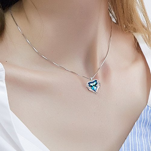 NEHZUS Heart of the Ocean Love Heart Pendant Necklace for Girlfriend Love Wife,Crystal from Swarovski by NEHZUS (Image #3)