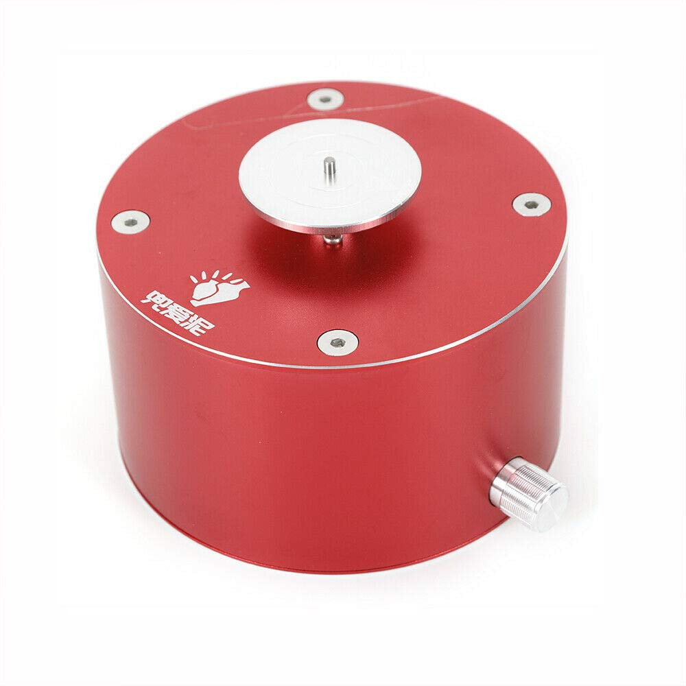 YUNRUS Electric 12V Pottery Making Machine Aluminum Alloy&Stainless Steel USB Chargeable Clay Making Pottery Machine,DIY Craft Ceramic Pottery Wheel Pottery Wheel Clay Machine (Red)