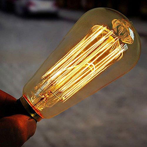 E27 60w 110V Filament Bulb Vintage Retro Industrial Xmas Edison Lamp (Vases Where Buy To Glass)
