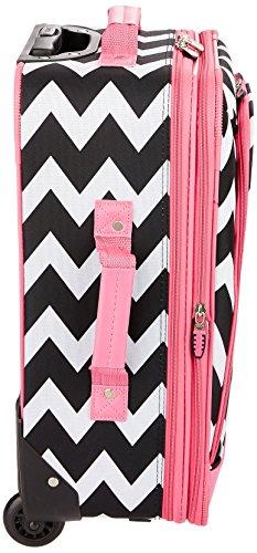 Rockland 2 Piece Expandable Luggage Set, Pink Chevron, One Size