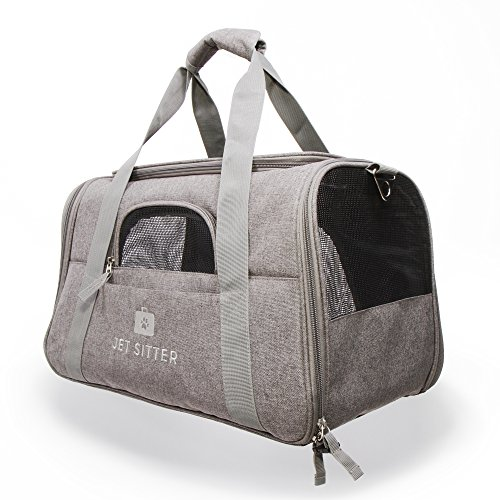 - Jet Sitter Super Fly Airline Approved Pet Carrier Bag - TSA Airplane Travel Carriers Cat Dog Small Dogs