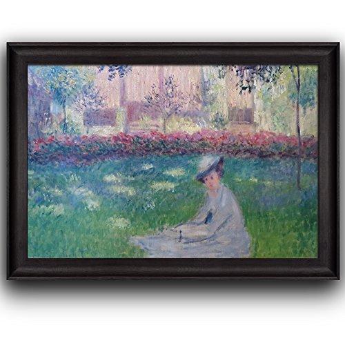 Woman in a Garden by Claude Monet Framed Art