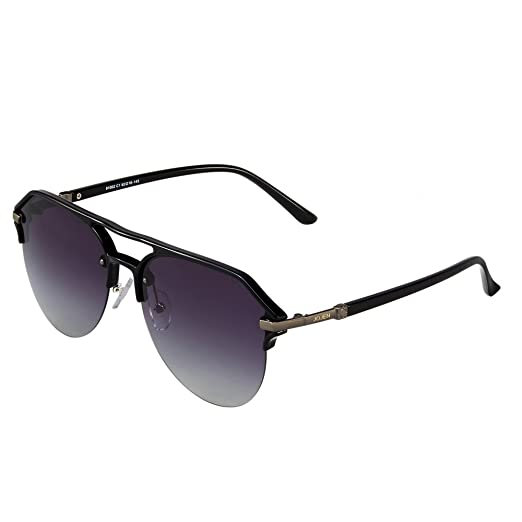 94362fdc861 JOJEN Fashion Polarized aviator Sunglasses for men women Metal TR90 TAC  JE0013(Black Frame Grey Lens