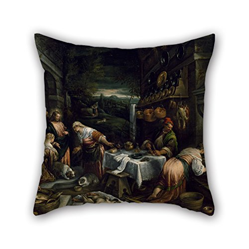 alphadecor-the-oil-painting-jacopo-bassano-christ-in-the-house-of-mary-martha-and-lazarus-pillowcase