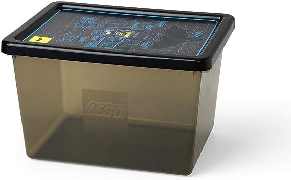 Batman 4094 Caja Grande de Almacenamiento de Lego 18 l, Apilable, Negro Transparente, PP, Black, 37.8 x 29.7 x 23.5 cm: Amazon.es: Hogar