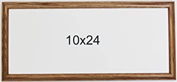 panoramic oak 10x24 picture frame