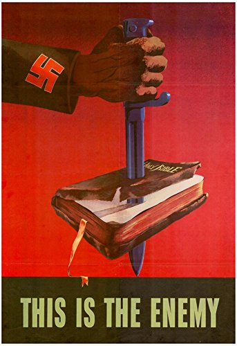 Laminated This is the Enemy Anti-Nazi WWII War Propaganda Art Print Poster 13 x 19in (Propaganda Posters Anti War)