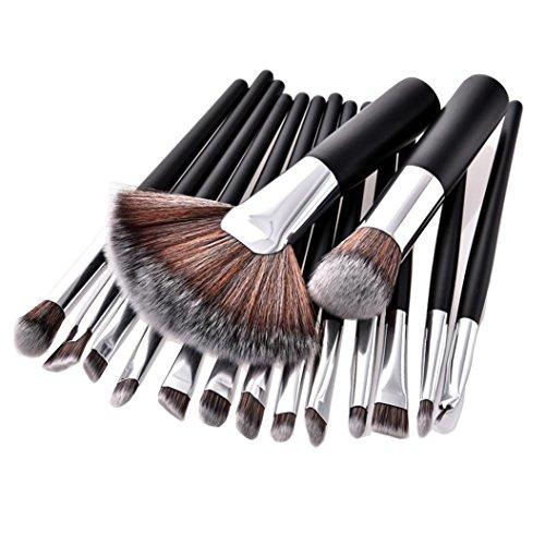 Mahogany Soft Foundation (Makeup Brush Set, Face Brushes Blush Brush Scofieldly 2018 16pcs Premium Cosmetic Brushes for Foundation Blending Blush Concealer Eye Shadow, Powder Eyeshadow Eyeliner Lip Brush Tool)