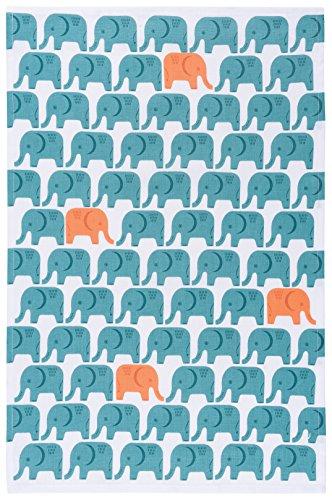 - Now Designs Cotton Kitchen Towel, Edgar Elephant Print