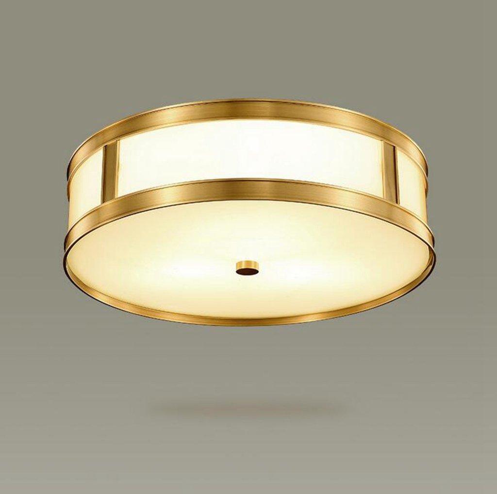 Jingzou Amerikaner full Kupfer Decke European Wohnzimmerlampe modern minimalistisch Ess- Schlafzimmer den Balkon 30CM