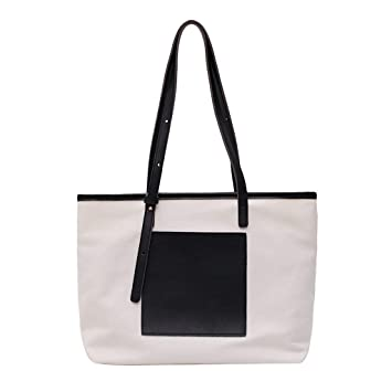 6142a333bc6c Amazon.com: Sentmoon Women's Canvas Bag Simple Shopping Tote Casual ...
