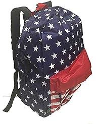 Patriotic Stars & Stripes American Flag Team USA BookBag Backpack Headphone Port