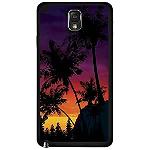 Colorful Sunset Behind Palm Trees Silhoutte Hard Snap on Phone Case (Note 3 III) wangjiang maoyi