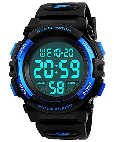 Kids Digital Sports Watch, Apantimx Boys Girls Waterproof LED Watches Wrist Alarm Watch for Children
