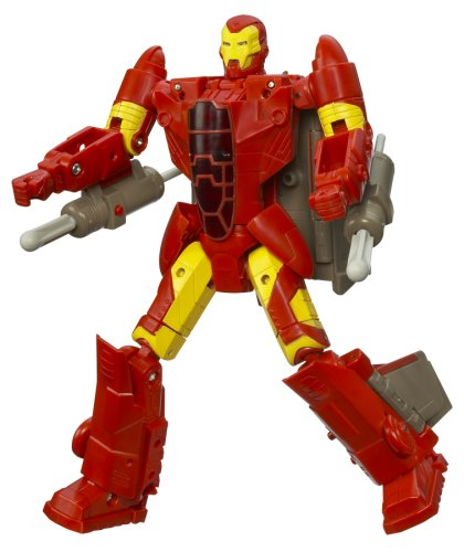 Marvel Transformers Crossovers - Fighter Jet to Iron Man, Red Costume