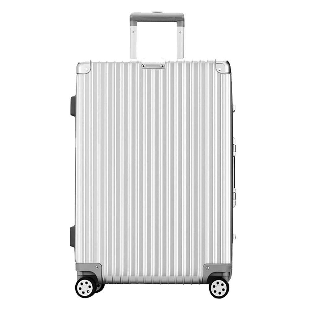 トロリーボックスPC大容量ポータブル出張ミュートキャスタースーツケース  White B07LFG8STS