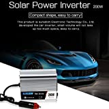 Sala-Store - 200W Solar Car Inverter DC 12/24V to AC 110/220V Sine Wave Power Converter Power Supply Pure Sine Wave Solar Power Inverter New
