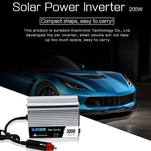 Sala-Store - 200W Solar Car Inverter DC 12/24V to AC 110/220V Sine Wave Power Converter Power Supply Pure Sine Wave Solar Power Inverter New