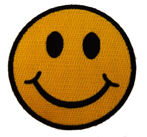 Smiley Face Fabric - Smiley Smile Smiles Happy Face Iron on Patch D2