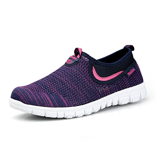 cloth middle walking dark blue shoes female shoes light non A1 net shoes sports slip Hasag Summer aged mother shoes rose breathable pxnUqvUZ5w