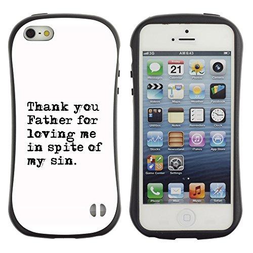 DREAMCASE Citation de Bible Silicone et Rigide Coque Protection Image Etui solide Housse T¨¦l¨¦phone Case Pour APPLE IPHONE 5 / 5S - THANK YOU FATHER FOR LOVING