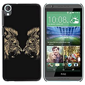 Impact Case Cover with Art Pattern Designs FOR HTC Desire 820 Lion Angry Roar Fight Boxing Champion Betty shop