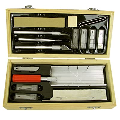 30 piece Hobby Knife & Miter Saw Cutting Craft Set from Hawk