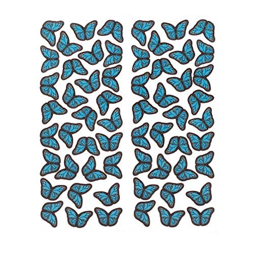 Edible Butterflies Cake Toppers,Blue, Small Size Set,M