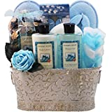 Art-of-Appreciation-Gift-Baskets-Ocean-Mists-Renewal-Spa-Relaxing-Bath-and-Body-Gift-Set-Medium-BlueWhite