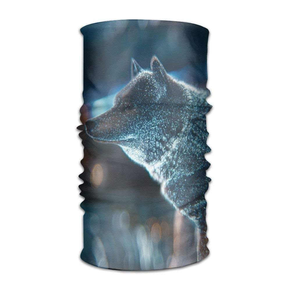 Snow Wolf Night Unisex Fashion Quick-Drying Microfiber Headdress Outdoor Magic Scarf Neck Neck Scarf Hooded Scarf Super Soft Handle