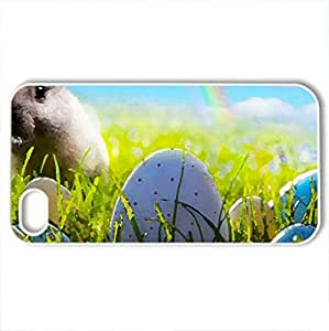 Easter - Case Cover for iPhone 4 and 4s (Fields Series, Watercolor style, White)
