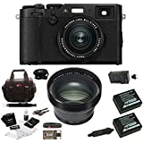 Fuji X100F Digital Camera w/TCL-X100 II Teleconverter Kit (Black)