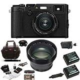 Fuji X100F Digital Camera w/TCL-X100 II Teleconverter Kit (Black)