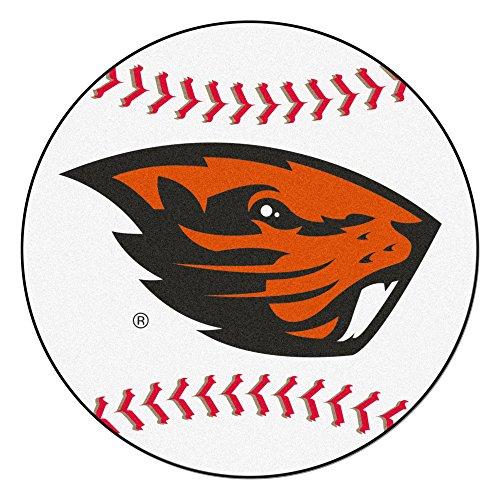 - NCAA Oregon State University Beavers Baseball Shaped Mat Round Area Rug