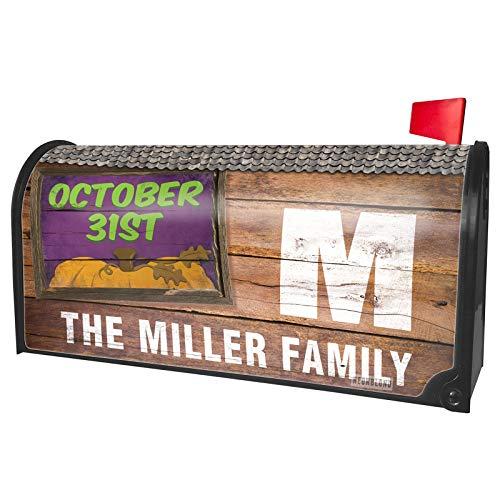 NEONBLOND Custom Mailbox Cover October 31st Halloween Pumpkin Top -