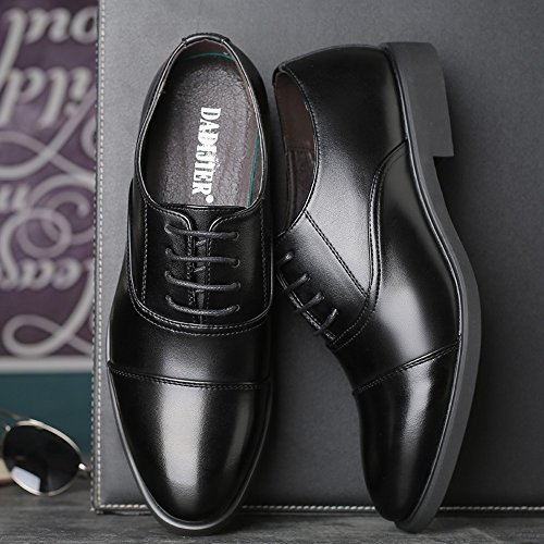 Para De Negro Papel Cordones Zapatos Hombre Duoshengzhtg wznOqIBB
