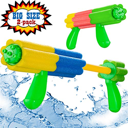 Aouker Water Blaster Gun Foam Soaker Water Pump Shooter, Light Weight Swimming Pool Beach Water Fighting Toys for Kids and Adults, 2 Pack]()