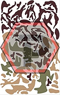 Tactical Penguin Woodland Camo Stencil For Cerakote Gunkote Duracoat Avery Paint Mask Sticky Back
