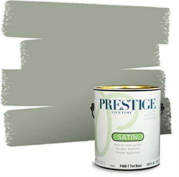 Amazon Com Prestige Paints P400 T Sw6192 Interior Paint And Primer In One 1 Gallon Satin Comparable Match Of Sherwin Williams Coastal 1 Gallon Sw11 Coastal Plain Home Improvement