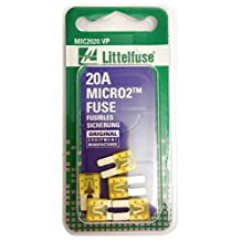 Littelfuse (MIC2020.VP) MICRO2 Yellow 32V 20 Amp Blade Fuse, (Pack of 5)