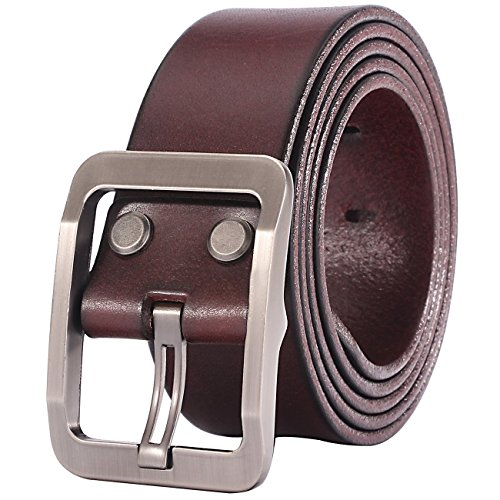 Lecxci Leather Gunmetal Buckle Closure