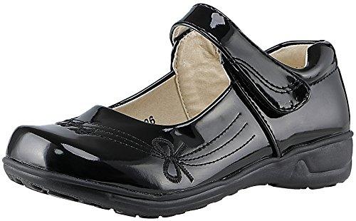 SKOEX Girls Strap Mary Jane School Uniform Flat Shoes(Toddler/Little Kid)