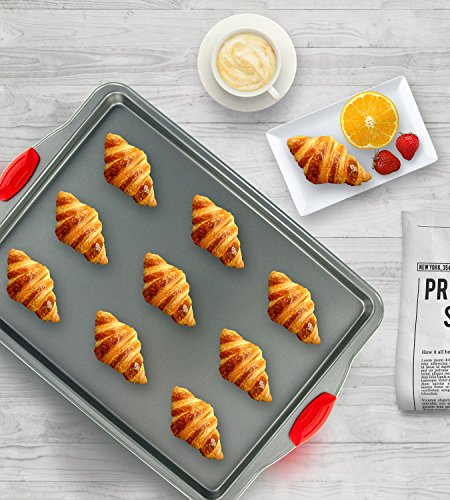 Boxiki Kitchen Nonstick Baking Sheet Pan | 100% Non-Toxic Rimmed Stainless Steel Baking Sheet, No Chemicals or Aluminum | Dent, Warp & Rust Resistant Heavy Gauge Steel Oven Baking Sheet (1) by Boxiki Kitchen (Image #1)