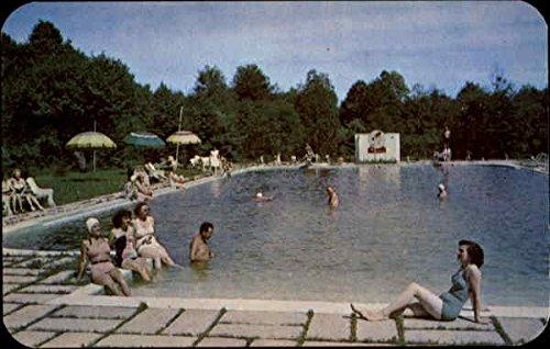The Majestic Pool At Pocono Gardens Lodge Cresco, Pennsylvania Original Vintage - Majestic Pool