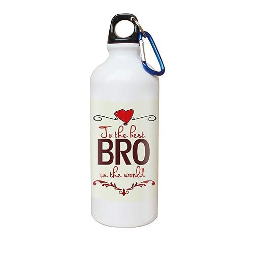 Sky Trends Aluminum Gift For Bro Printed Sipper 1 BottleMulticolour
