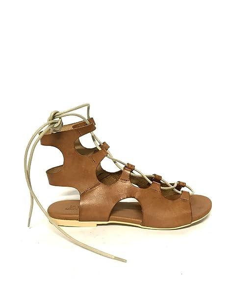 Alla Made Sandali In Basso Tacco Zeta Shoes Donna Vera Pelle Schiava fgyb76