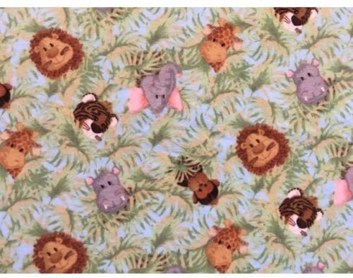 (Jungle Babies Nursery Patty Reed Cotton Flannel Fabric Safari Lion)