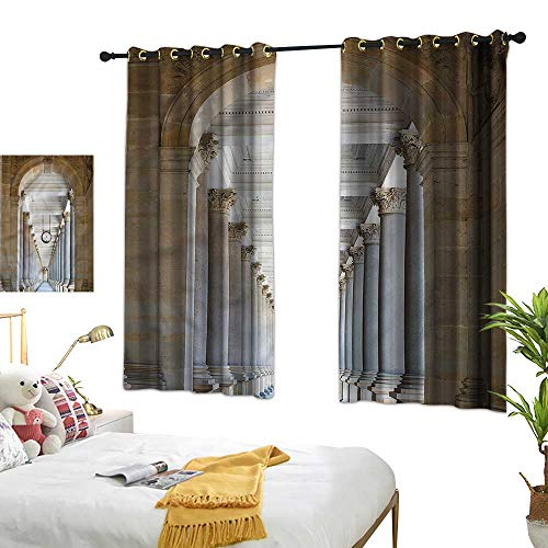 """Warm Family Ancient Simple Curtain Colonnade in Karlovy Vary 70%-80% Light Shading, 2 Panels,55"""" Wx45 L"""