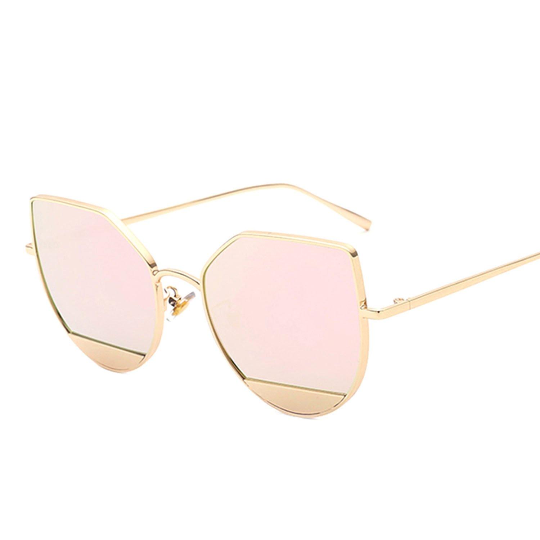Amazon.com: Cat Eye Blue Sea Tears Sunglasses Women Metal ...