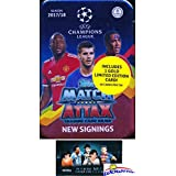 2017/18 Topps Match Attax Champions League Soccer Collectors EXCLUSIVE MEGA TIN with 60 Cards Including GOLD Limited Edition Card & 15 Subset Cards! PLUS BONUS Lionel Messi Collection Pack! Wowzzer!